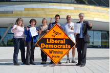 Derby Lib Dems launch their 2015 manifesto at the Derby Arena