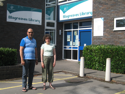 Cllrs Joe Naitta and Ruth Skelton at Blagreaves Library