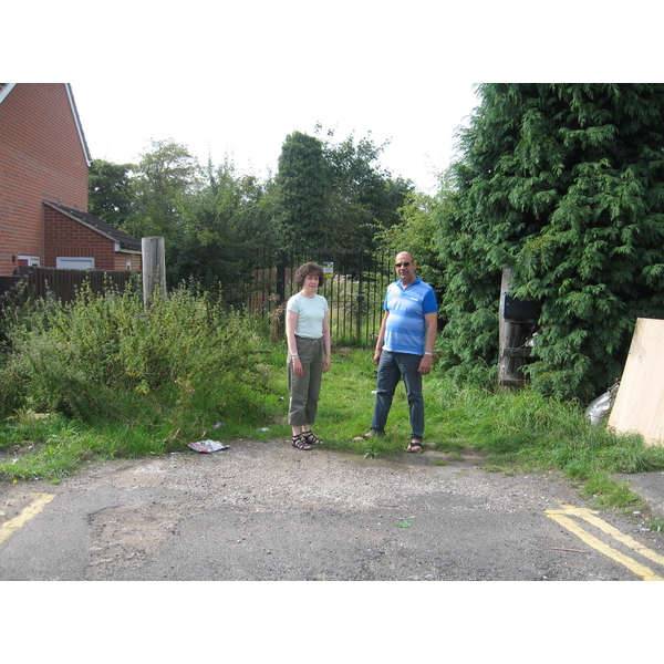 Cllrs Ruth Skelton and Joe Naitta on Oaklands Avenue at the start of the proposed path