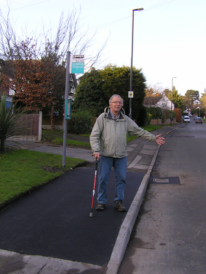 Bus stops are being improved to make access easier on Normanton Lane, Chain Lane and (here) Rykneld Road.