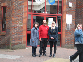 Cllr Joe Naitta, Cllr Ruth Skelton and Danielle Lind visiting Derby CALC