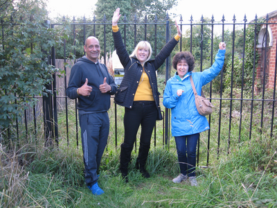 Cllr Ruth Skelton, Cllr Ruth Skelton and Danielle Lind at the site of the new path