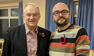 Barry Holliday, pictured with Sir Ed Davey MP, previously Lib Dem Secretary of State for Energy and Climate Change