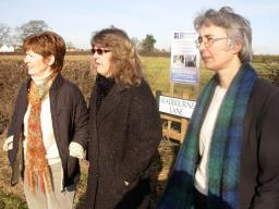 Cllrs Fay Winter, Maggie Hird and Lucy Care