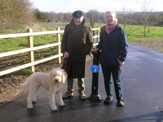 Cllrs Mike Carr and Lucy Care at the new in Millennium Wood ()