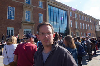 Derby North MP Candidate Greg Webb at the Derby Climate Strike Protest